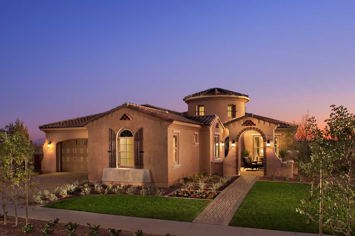 A 55 community homes in the active adult community of for Verrado home builders